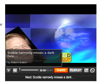 Robert Scoble Video - buffering message covers the advertisers' logos