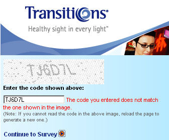 Transitions Eyewear Site - impossible to read with my new lenses