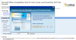 Silverlight Download Center Beta