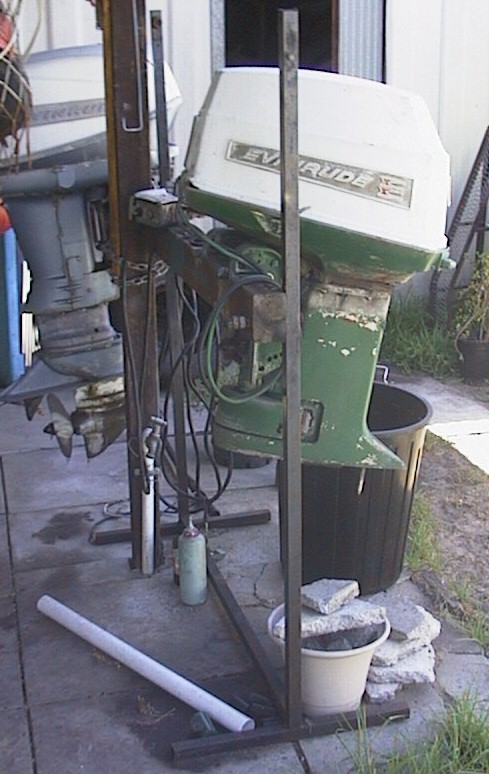 Need to build outboard motor stand any plans pics for Large outboard motor stand